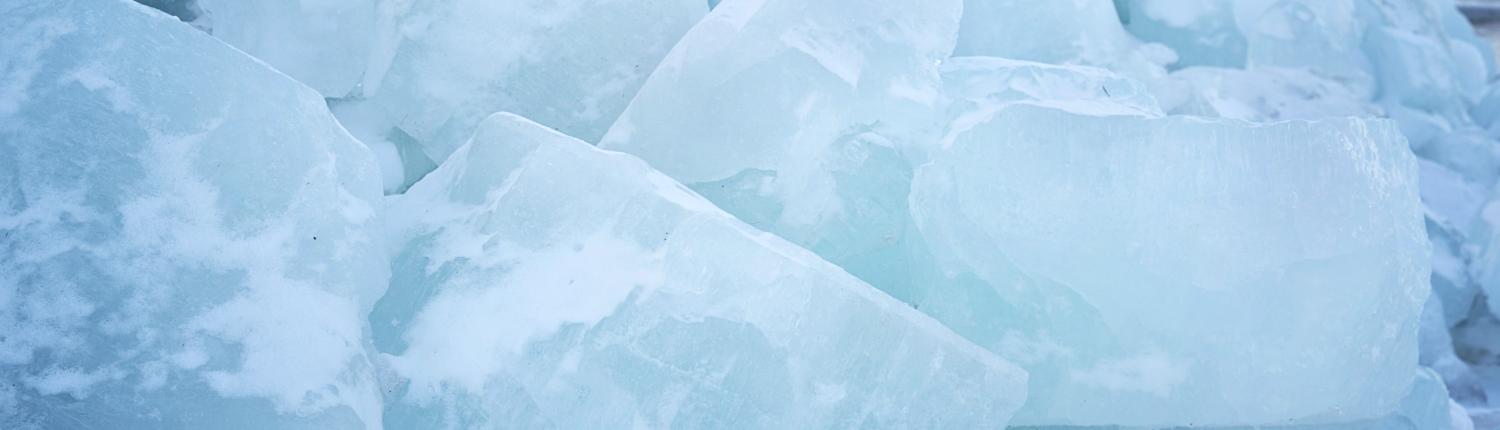 Blue ice blocks
